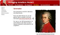 Website für Kinder: Mozart